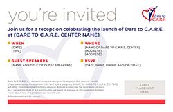 Launch Event Invite Postcard